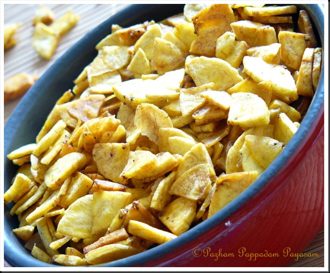 Quartered banana chips