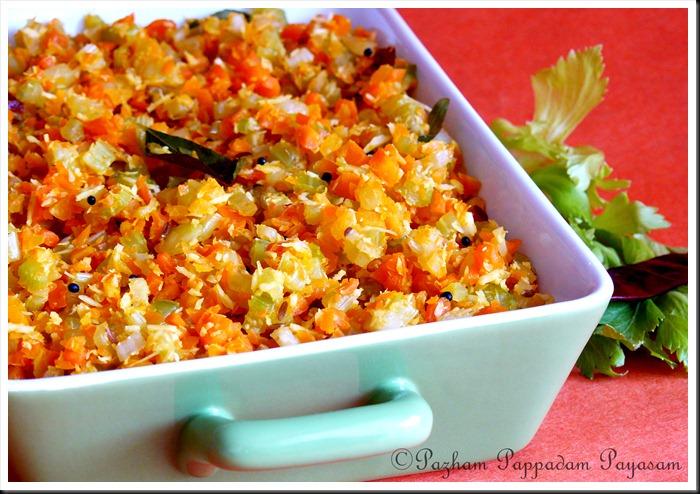 Celery carrot thoran