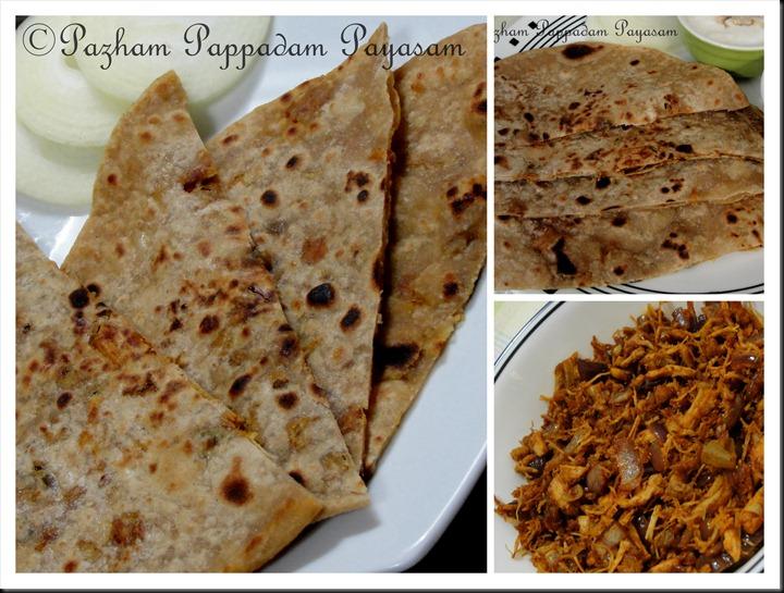 Chicken stuffed chappathi