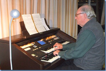 Past President, George Watt, played some lively music on the GA3 and again made good use of the rhythm box.