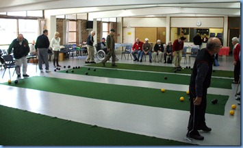 The indoor bowling activies