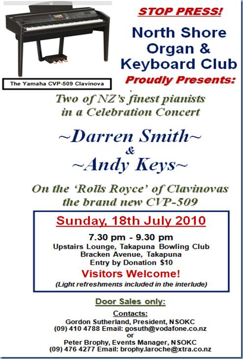 Darren Smith Concert Flyer