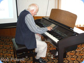 Rob Powell enjoying the CVP-509 Clavinova