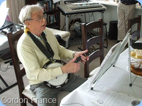 Gordon France played his Eukalele - George Formby lives!