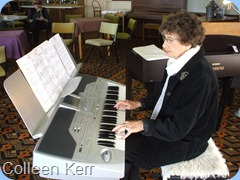 "Club Secretary, Colleen Kerr, playing her own arrangement of ""Ruby"" on the Korg Pa1X"