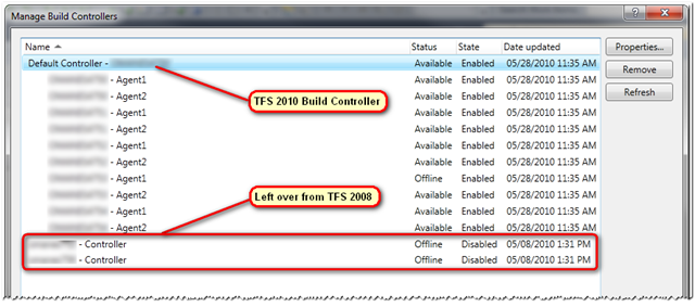 Manage Build Controllers
