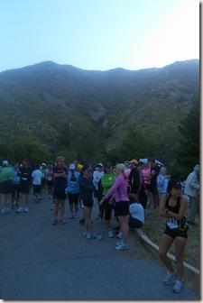 Fontana half marathon start area