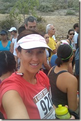 Peters canyon trail race self portrait