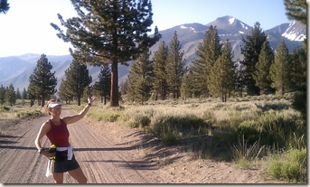 Mammoth Lakes trail run Lisa