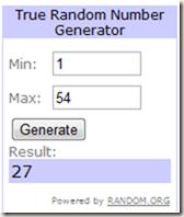 Balancing Act Giveaway random number