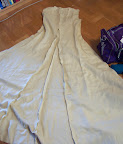 The lining of the dress