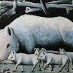 N. Pirosmani. Sow with Piglets.