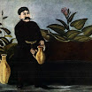 N. Pirosmani. Sarkis Pouring Wine.