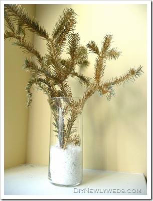 Gold Evergreen Branches