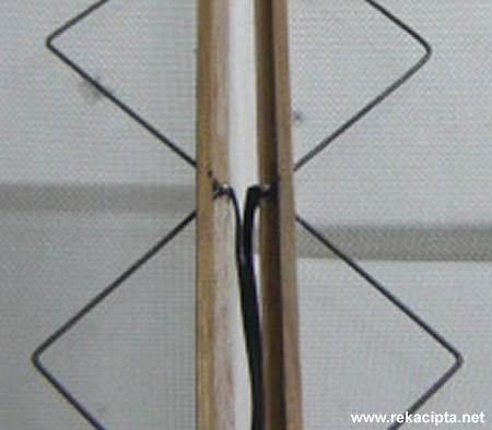 Rekacipta.net - sambungan kabel 300ohm pada elemen antenna