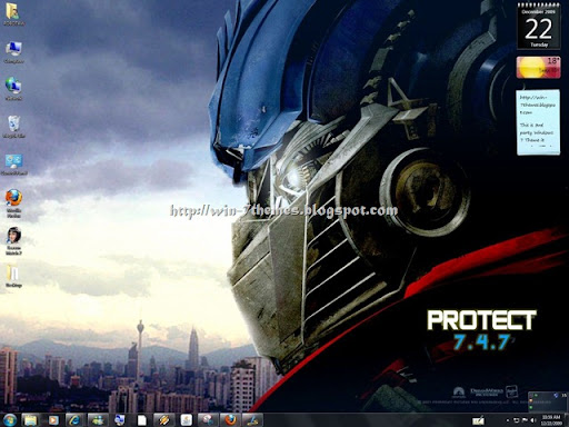 windows 7 wallpaper themes. Transformers Windows 7 Theme