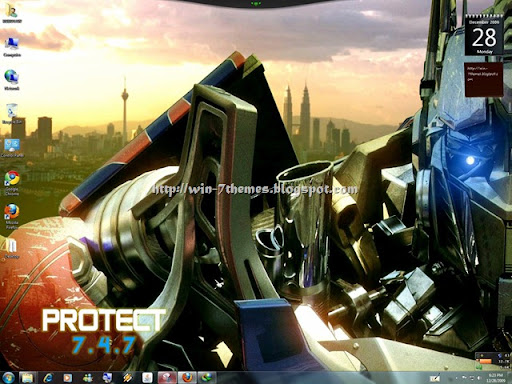 windows 7 wallpaper themes. Transformers 2 Windows 7 Theme