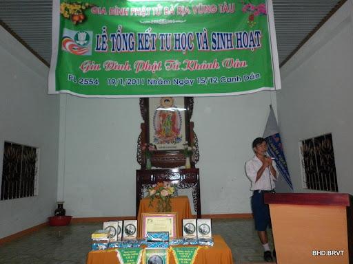 Lễ tổng kết sinh hoạt GĐPT Khánh Vân – 2010