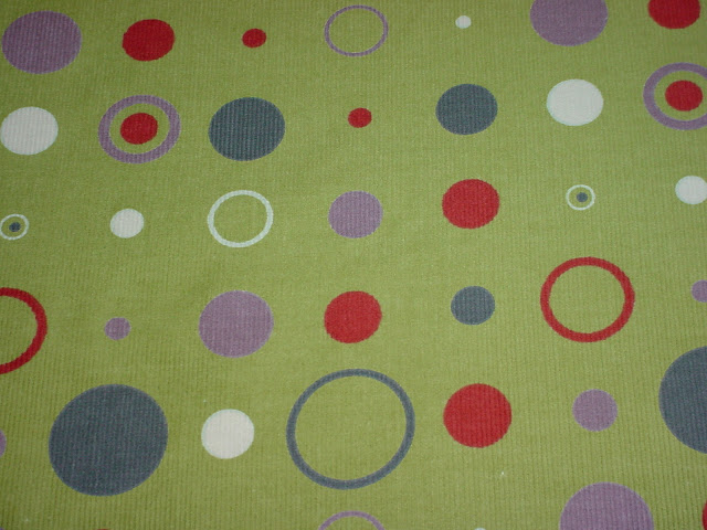 Circles on Leaf Corduroy