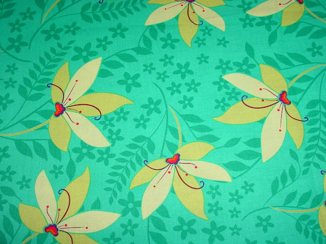 DC4412 Pretty Flowers Turquoise