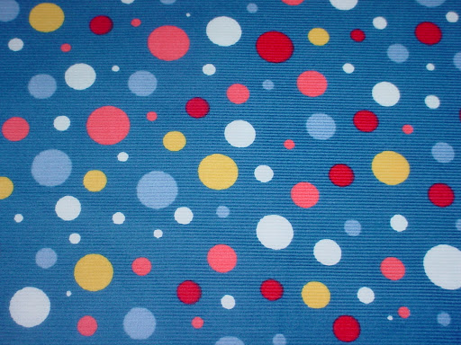Dots on Royal Corduroy