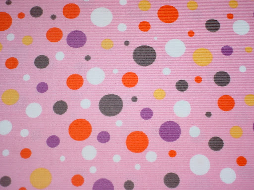 Dots on Pink Corduroy