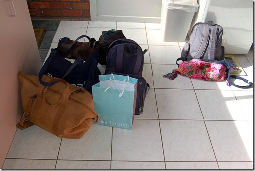 Grampians - my luggage and Mitty's luggage