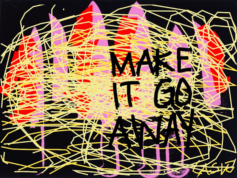 'MAKE IT GO AWAY' Casie Stewart, iPad: This is my photo, I am very deep & emotional. Andy Warhol drew the knives, I drew the blood and showed emotion. Someone on Twitter just said I am cute when I'm mad, why do boys always say that? I AM NOT CUTE. I AM ANGRY. - See more at: https://casiestewart.com/category/art/page/16/#sthash.h9LiU1CT.dpuf
