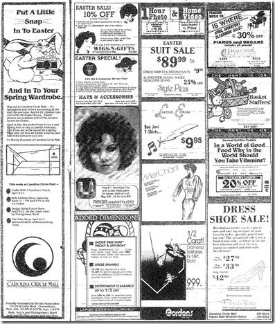 Easter April 9, 1987