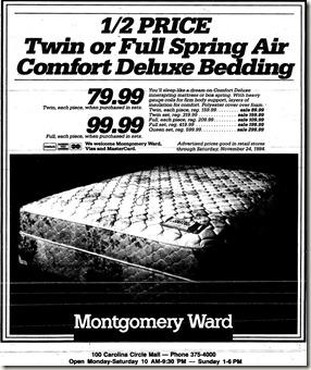 Montgomery Ward Ad November 1984