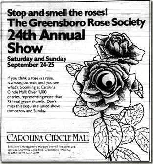 Rose Show September 23, 1988