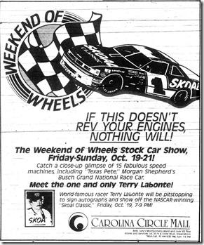 Weekend of Wheels October 1990