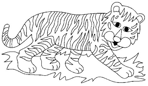 COLOREAR TIGRE Y LEON