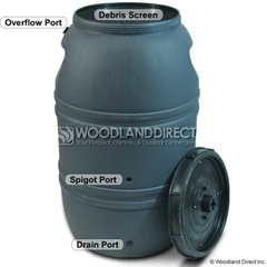 unpainted rain barrel 2