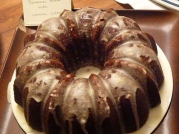 Banana Bundt with Lemon Icing