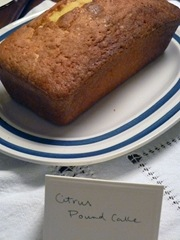 Citrus Pound Cake