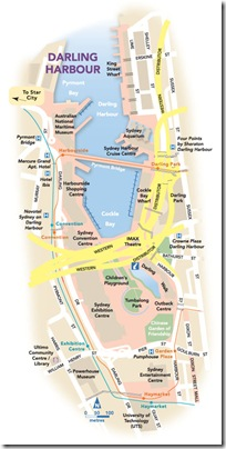 Map of Darling Harbour