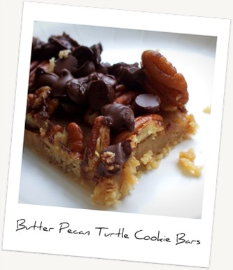 Butter Pecan Turtle Cookie Bars