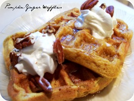 Pumpkin-Ginger Waffles