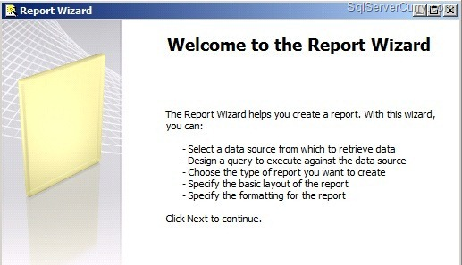 Report server wizard