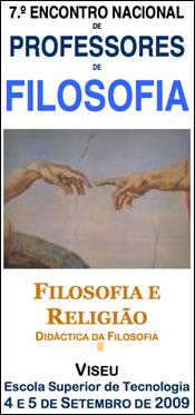 7º encontro nacional de professores de filosofia 2009 sobre Filosofia da religião