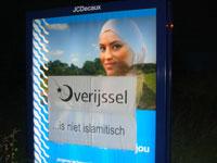 Girl on billboard in Overijssel