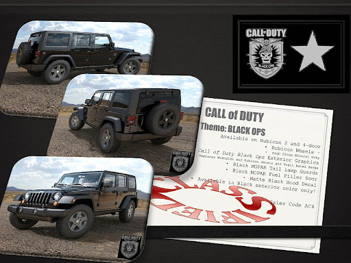 Call Of Duty : Black Ops - Black Ops Themed Jeep Rubicon