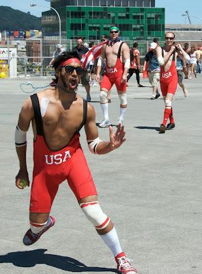 wild USA wrestling costumes wellington sevens