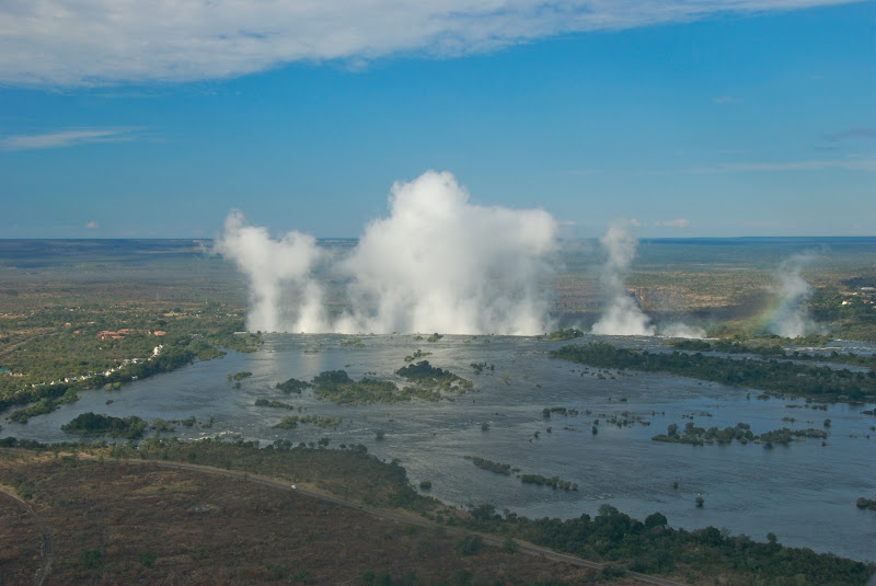 mist victoria falls from helicopter 
