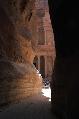 Petra opening to the Treasury Building