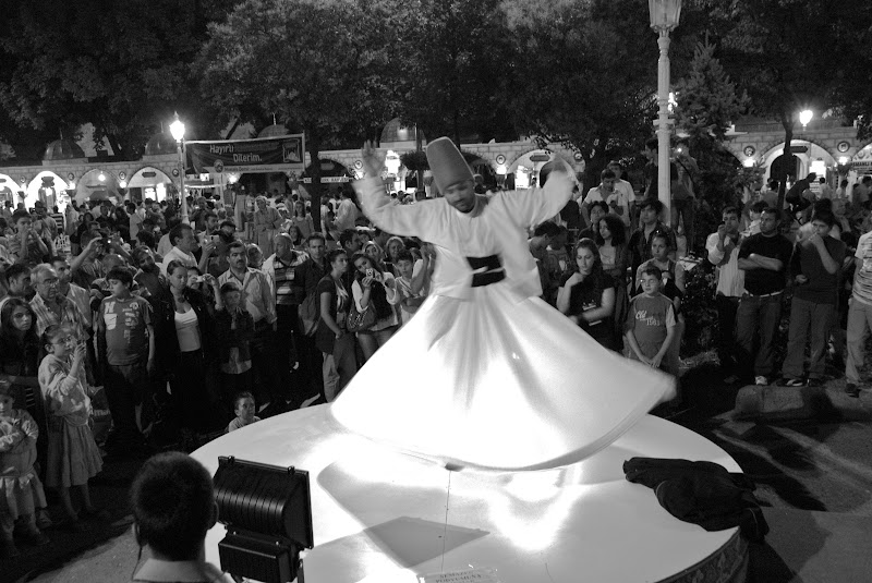 Whirling dervishes dancing, ramadan festival, istanbul