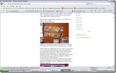 my wall on elsie's blog!