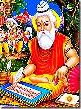 Valmiki writing the Ramayana