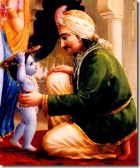 Baby Krishna with parents